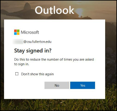 Microsoft sign in screen