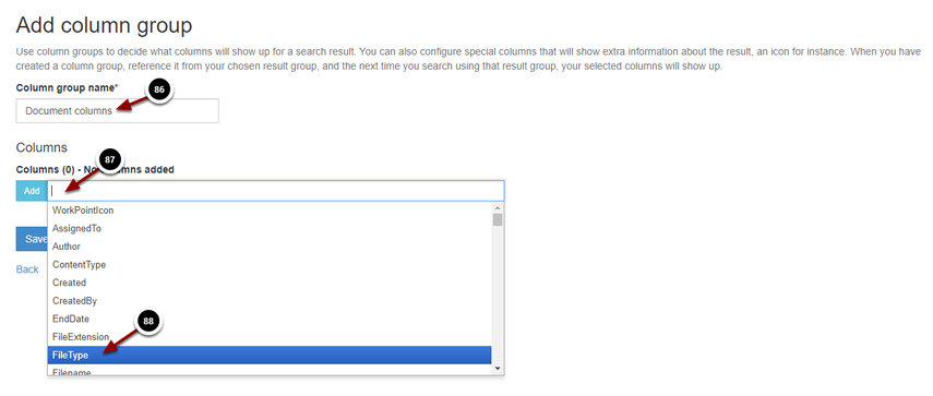 Add column group - Google Chrome