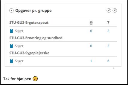 Sådan tilføjer du widget opgave pr. gruppe .docx - Word