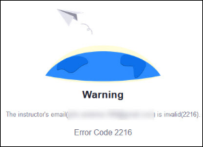 Zoom 2216 error message