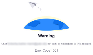 Zoom 1001 error message