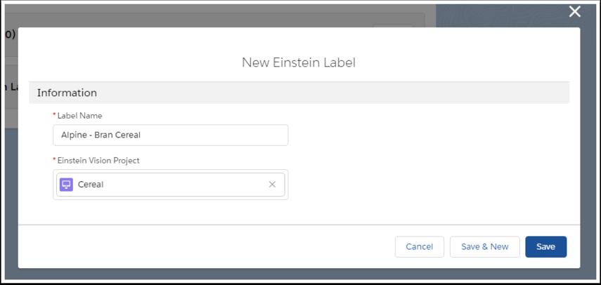 new einstein label