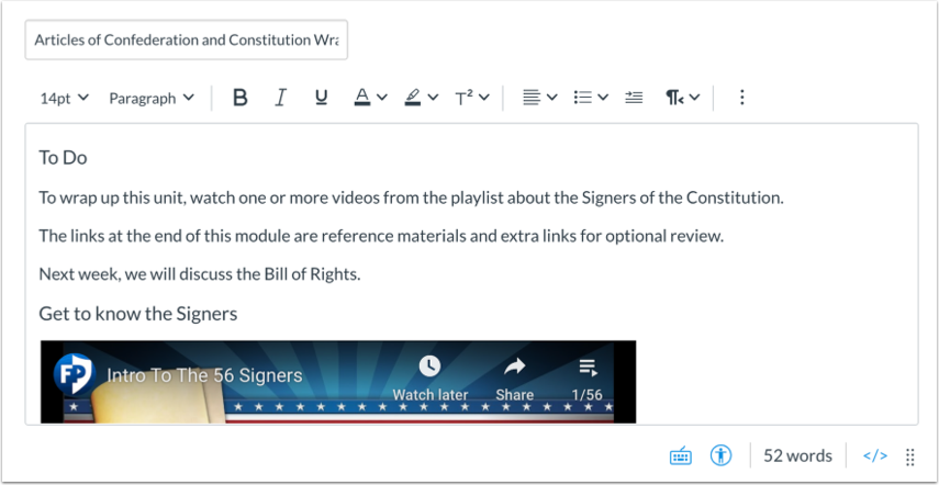 View New Rich Content Editor