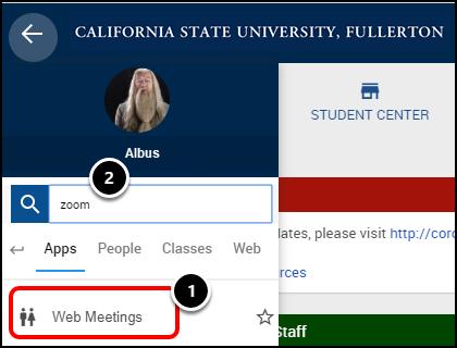 Campus portal home page
