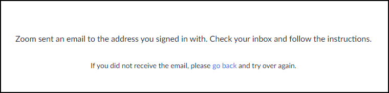 email notification sent