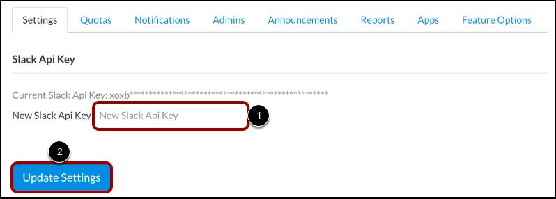 Add Slack API Token
