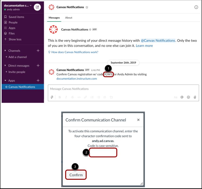 Confirm Communication Channel