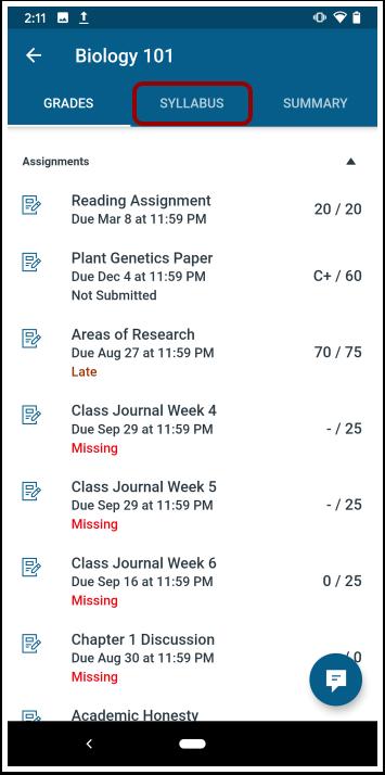 Open Course Syllabus