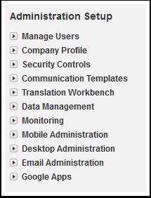 Administration Setup Overview