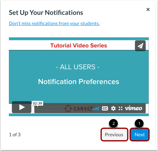 Set Up Your Notifications