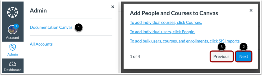 Add People & Courses to Canvas