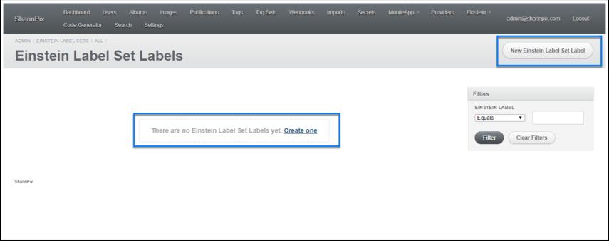 Einstein Label Set Labels | SharinPix - Google Chrome