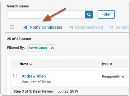 Click Notify Candidates