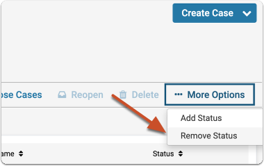 """Choose """"Remove Status"""" from the More Options enure - Interfolio"""