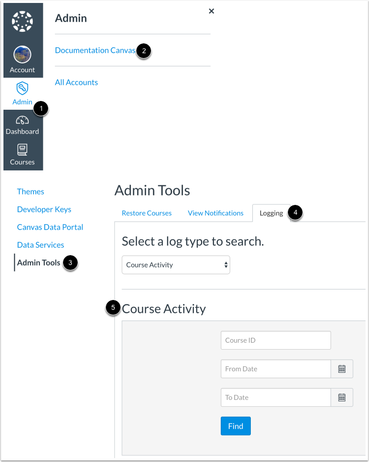 Check Course Activity in Admin Tools