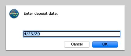 Enter a Deposit Date