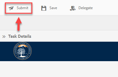 Arrow pointing to Submit button