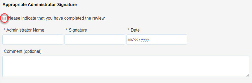 Highlight of Complete statement checkbox
