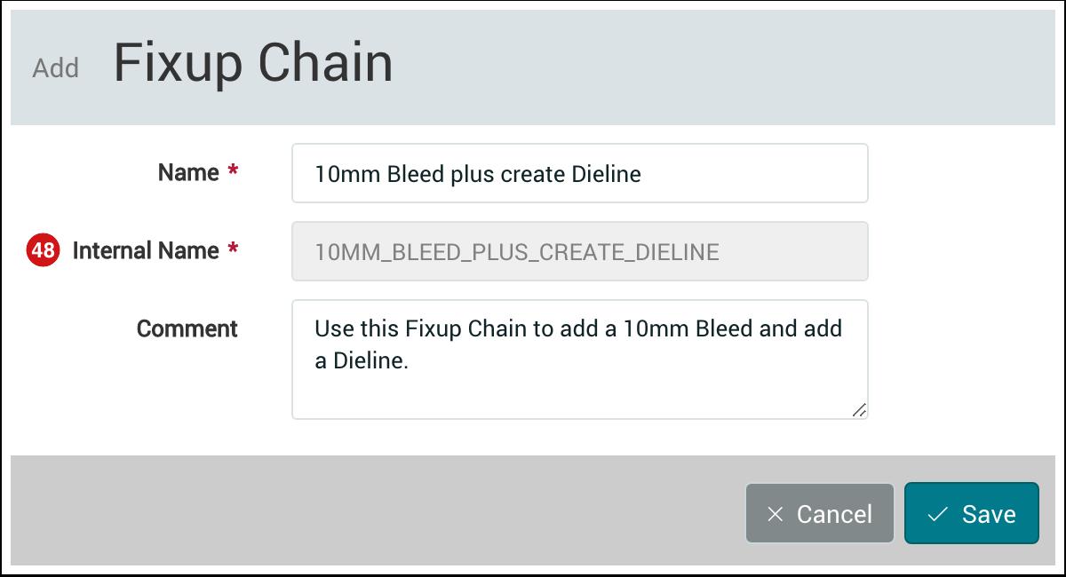 PMS WebGui :: Fixup Chains