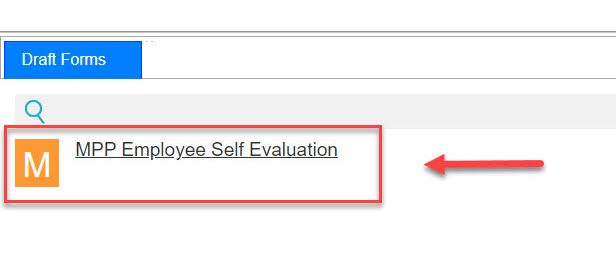 Arrow pointing to Draft Form