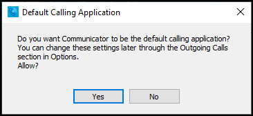 PC - default calling app