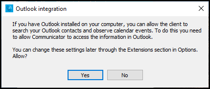 PC- Outlook integration