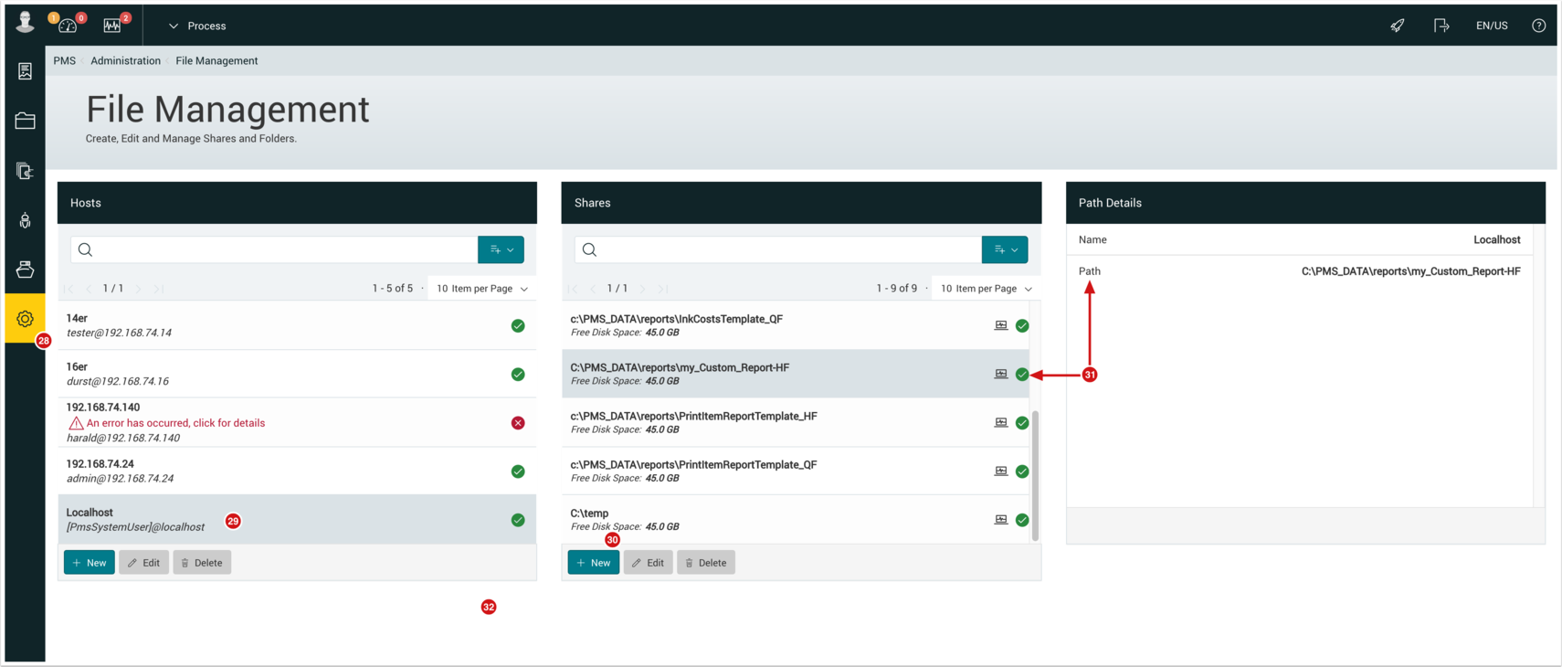 PMS WebGui :: File Management