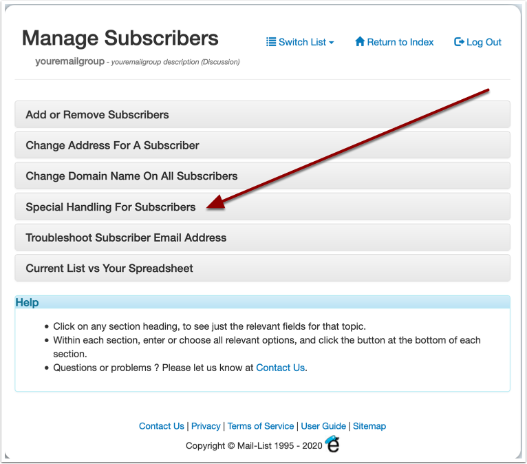 Manage Subscribers