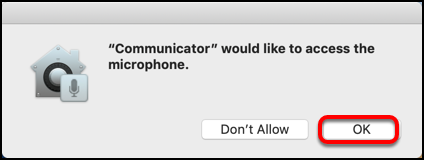 Mac - allow microphone access