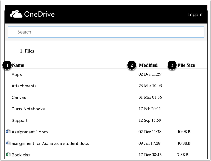 View OneDrive