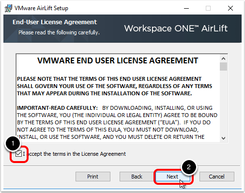 Step 4 - Accept License Agreement