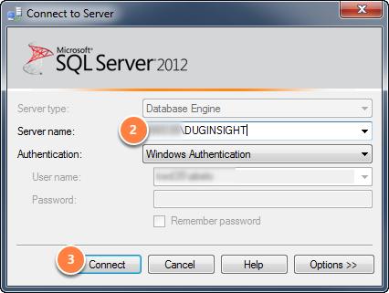 Open the SQL Server Management Studio