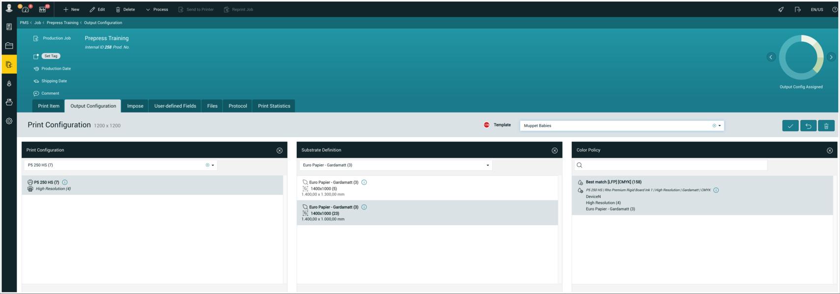 PMS WebGui :: Output Configuration