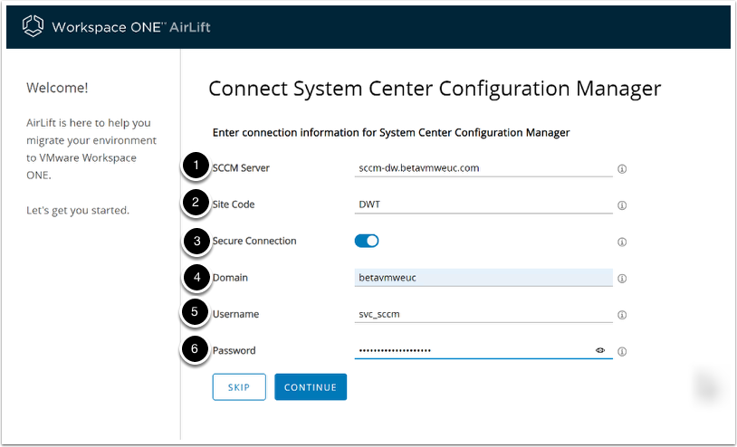Connect to ConfigMgr or Microsoft System Center Configuration Manager