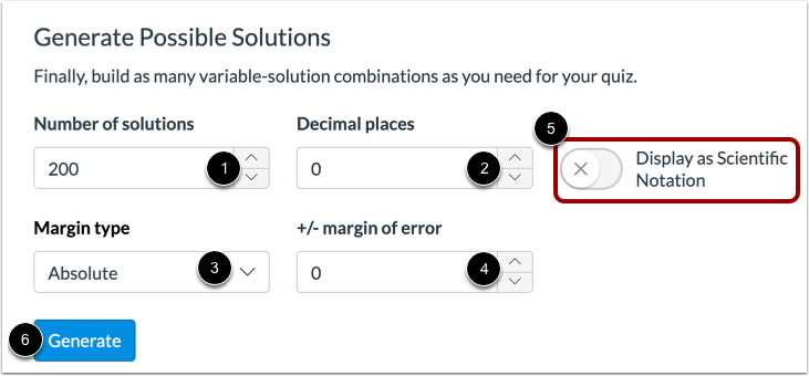 Generate Possible Solutions
