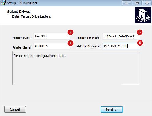 ZuniExtract Install Screen