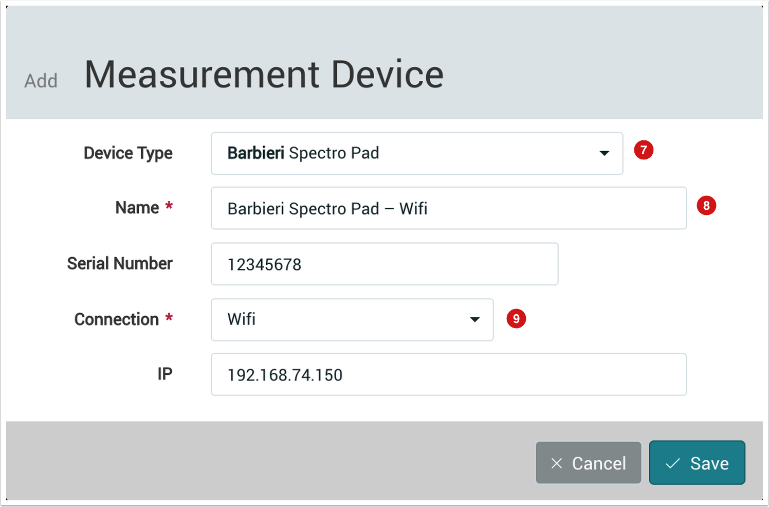 Add Measurement Device