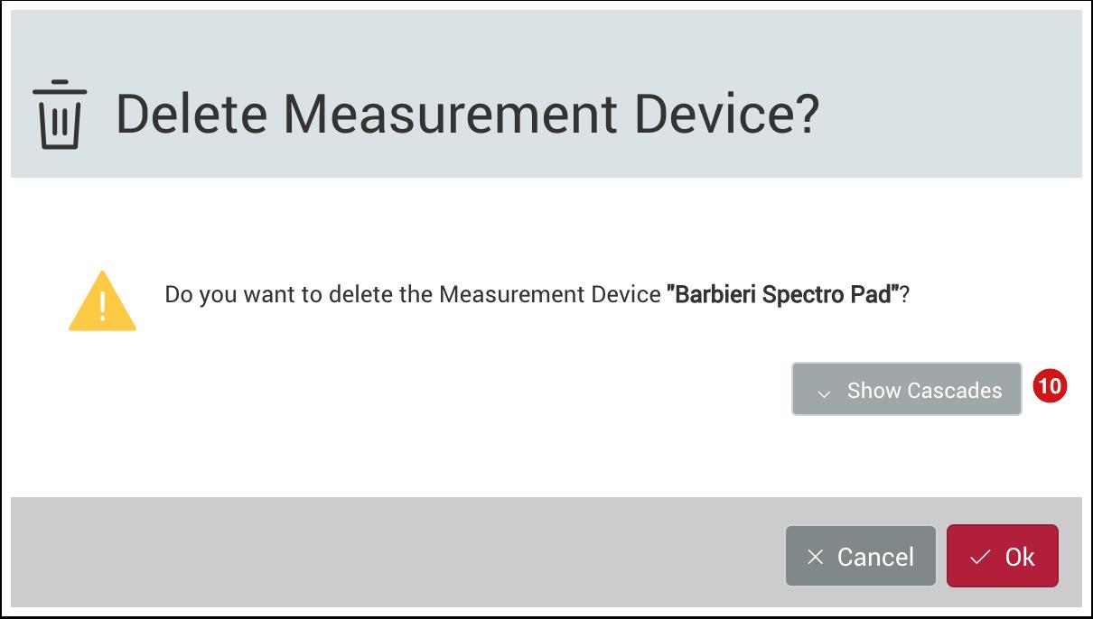 Delete Measurement Device
