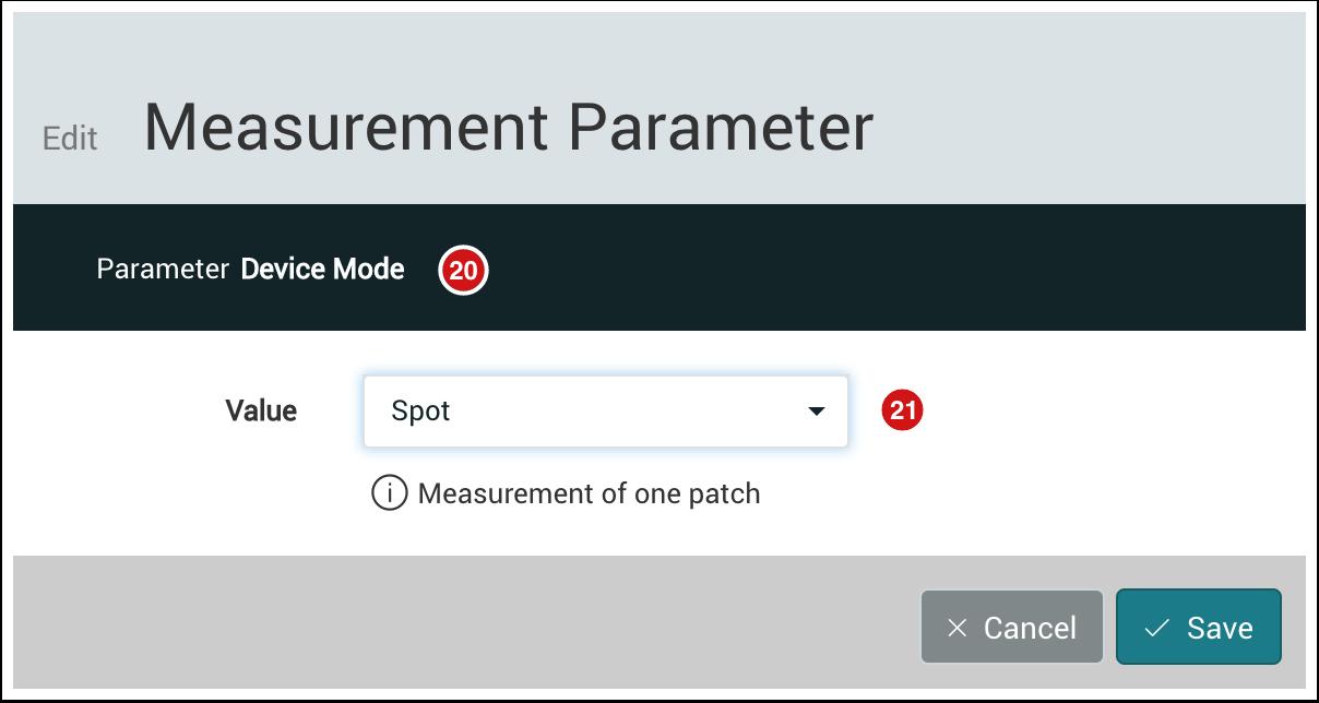 Edit Measurement Parameter