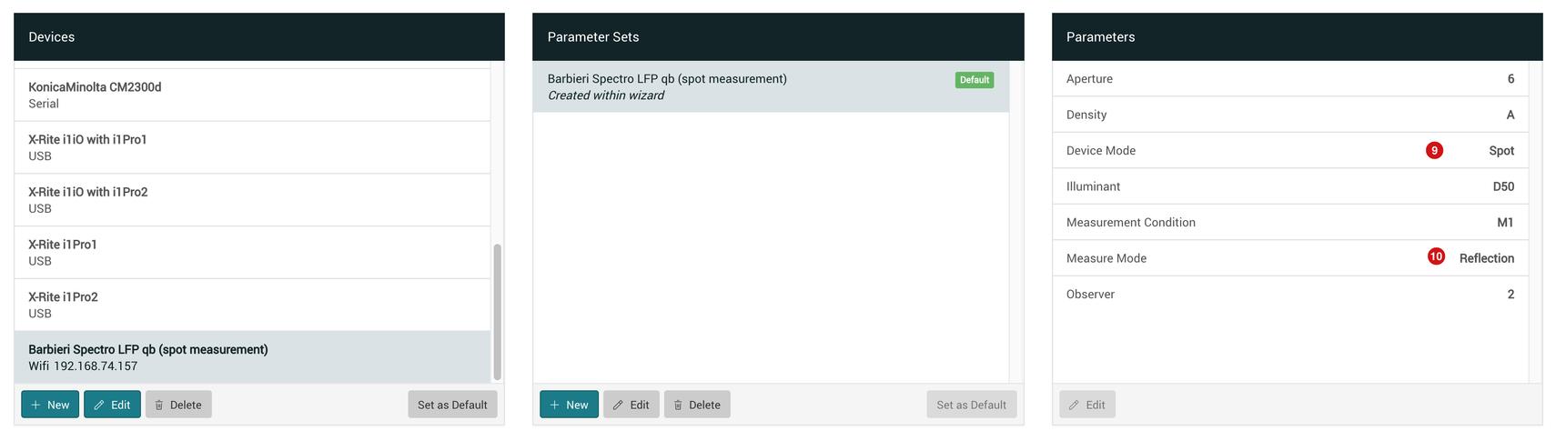 Barbieri Spectro LFP qb spot measuring
