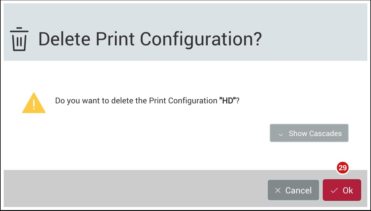 Delete a Print Configuration