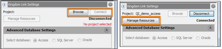 Connect Insight with Kingdom database