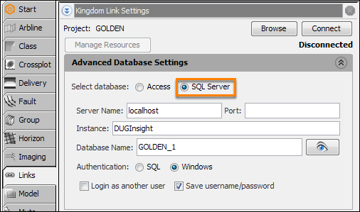 Switching between SQL Server and Access databases