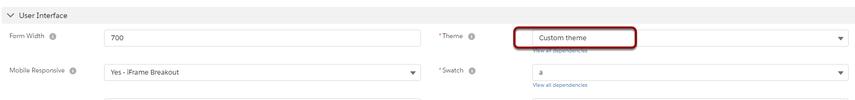 Change Theme to 'Custom Theme'