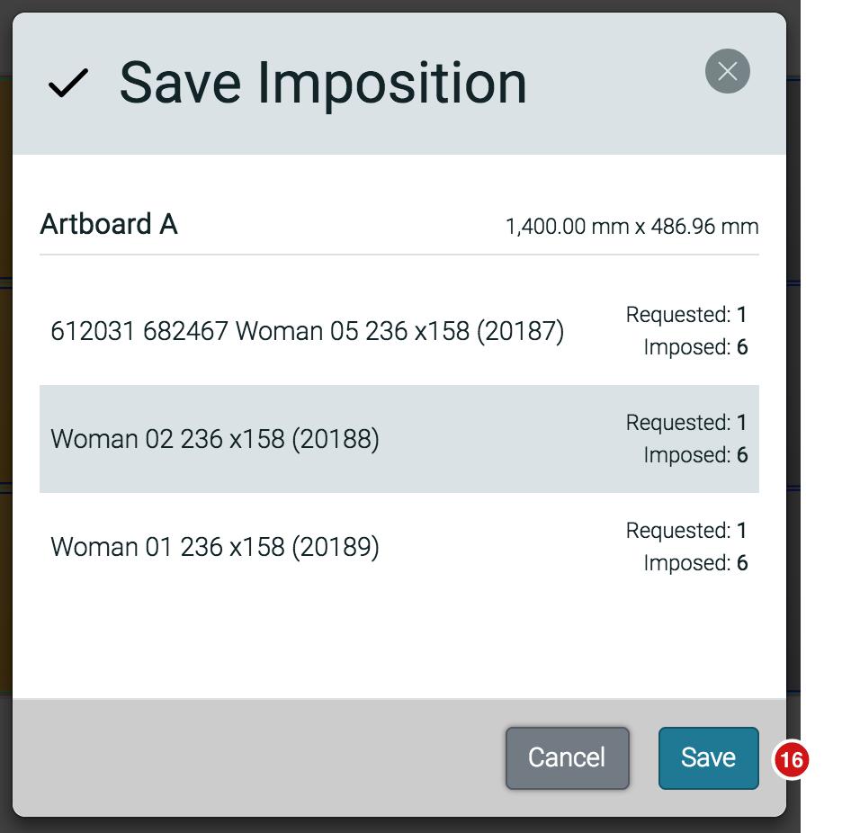 Saving the Imposition Dialog