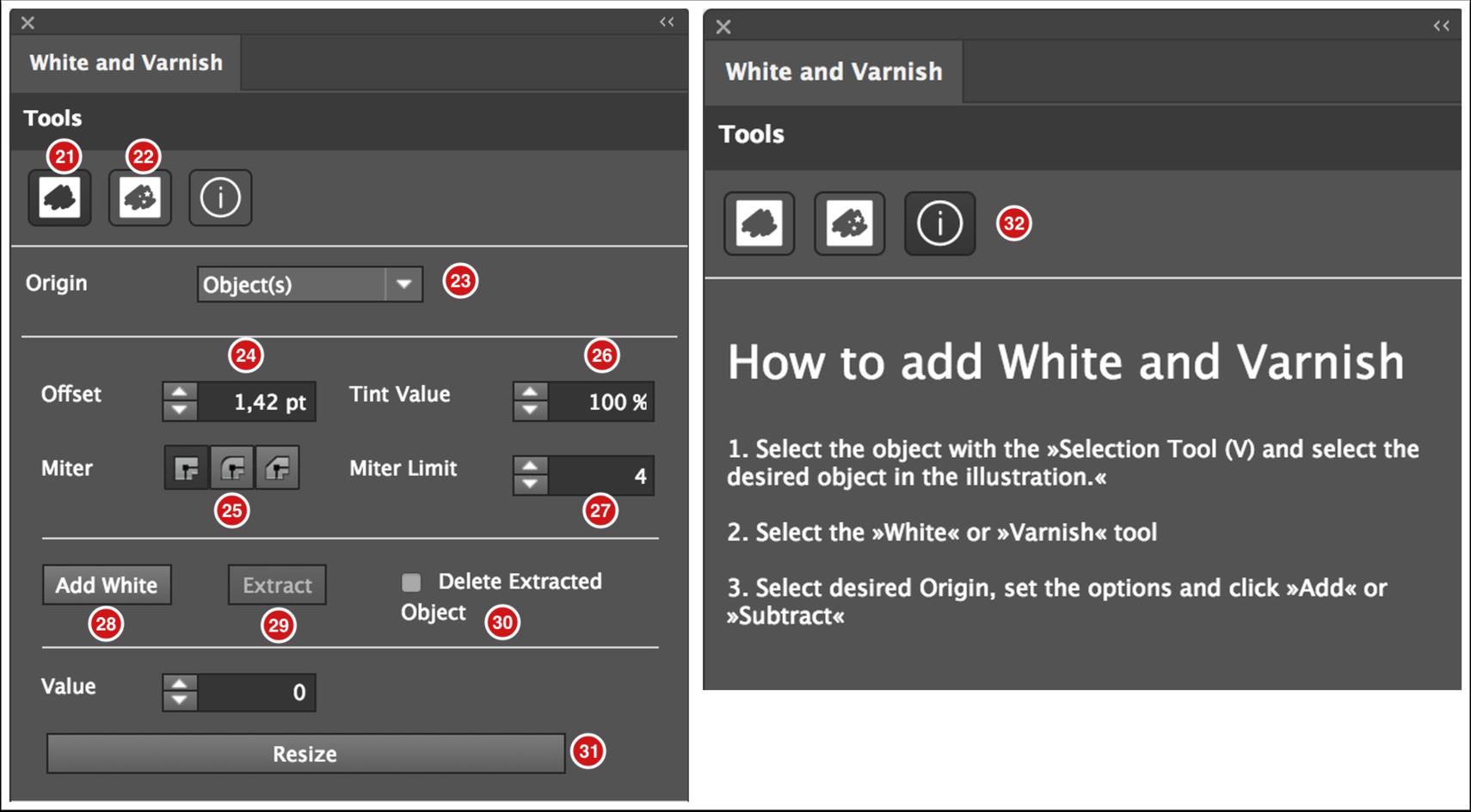 Adobe Illustrator Plug-in - White and Varnish