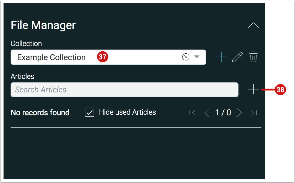 File Manager - Selected Collection