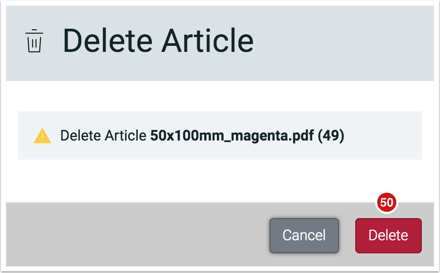 File Manager - Delete Article - 1.7.5