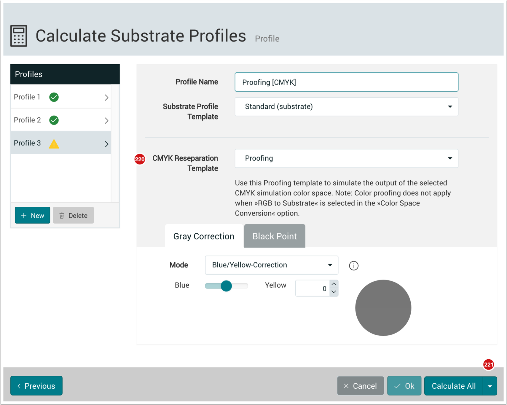 Calculate Substrate Profiles Proffing - 1.7.5
