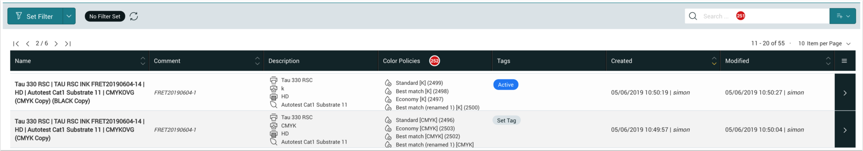 Color Setup - Search by Color Policy - 1.7.5
